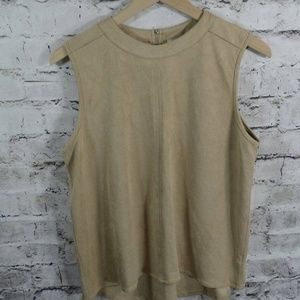 Paper Crane Faux Suede Sleeveless Top